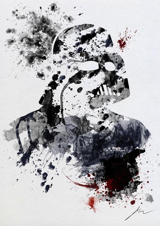 star wars en eclaboussures de peinture