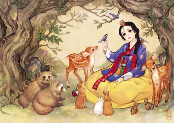 asian-korean-disney-remake-illustration-na-young-wu-1 (1)